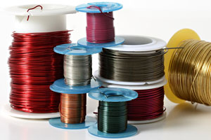 spools of colored wire