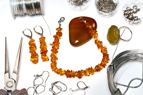 jewelry with fittings and findings