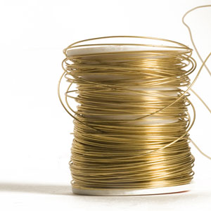 spool of gold wire